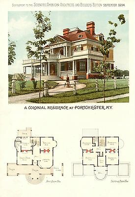 Portchester, N. Y. - Scientific American Architects and Builders Edition - 1894