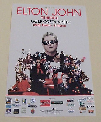 Elton John 2008 Rare Mini Flyers - Tenerife Golf Costa Adeje