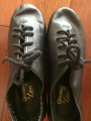 Ultratone Leo's Tap Shoe Lace Up Full Leather Youth Size 2.5 MSP $68 Unisex New