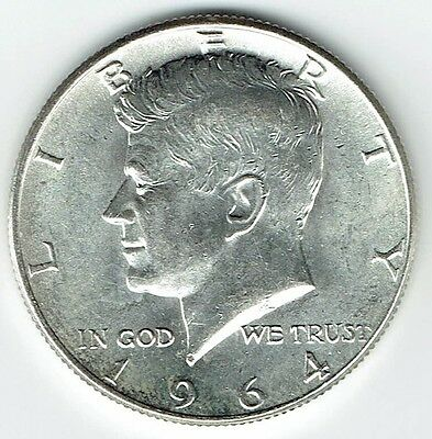 1964 P Kennedy Half Dollar 90% Silver US Mint (Exact Coin Shown) 293