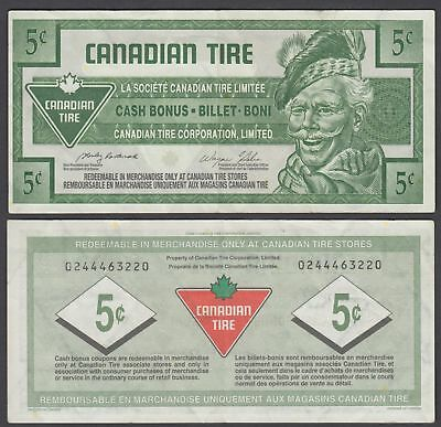 Canada 5 Cents 2005 (VF++) Condition Banknote Canadian Tire