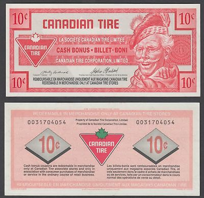 Canada 10 Cents 1992 (XF) CRISP Banknote Canadian Tire