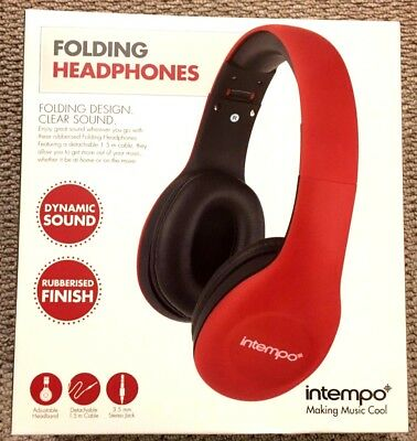 Intempo EE0999 Red Folding Headphones ( Making Music Cool ) 5053191379955