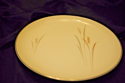 Platinum wheat fine China plate made in Japan 10 1/2 inches diameter