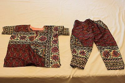 African Dashiki Clothing- 2 PC- Children's-  Multicolored- Patterned- Sleeves
