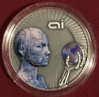 2016 Niue ARTIFICIAL INTELLIGENCE 2oz. Silver Coin RARE #022/500 1st In Series.