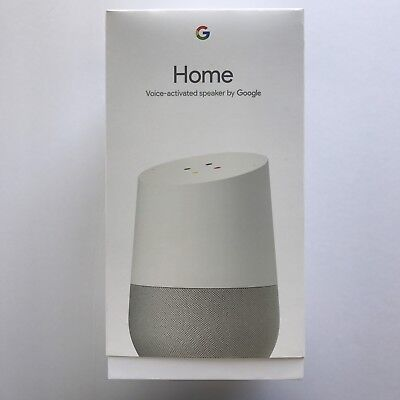 Google Home Personal Assistant Voice-Activated Speaker - White Slate