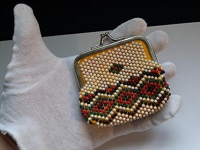 vintage purse beads 1980 year MADE IN BULGARIA ! (No.BV2)