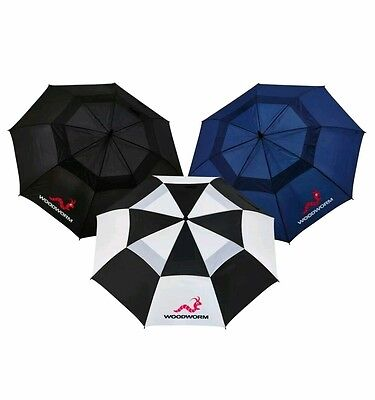 Black+White 60 Inch Woodworm Double Canopy Golf Umbrella