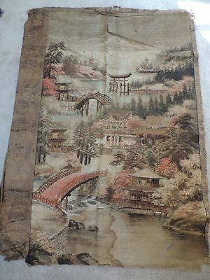 Antique Japanese Landscape Embroidery