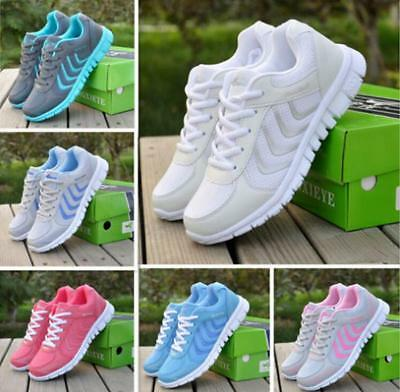 New Running Trainers Women's Walking Shock Absorbing Sports Fashion Shoes  Y6