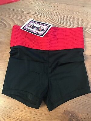 Lexi Luu Dancewear size Med shorts. High waisted with red band.