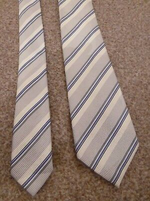 Bnwot New Dunhill London Italy Grey Stripe Winter Fall Silk Suit Shirt Dress Tie