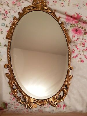 Aisonea ornate brass coloured mirror