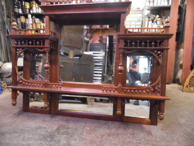 Beautiful Antique Cherry Back Bar Out Of Chancellor Hotel Parkersburg Wv
