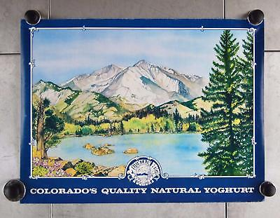"VTG 1977 Advertisement Colorado's Mountain High Yoghurt 22"" x 16"" Poster A14"