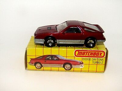 Matchbox Superfast No 28 1984 Dodge Daytona Turbo Z ENGLAND BASE VNMIB  Rare Box