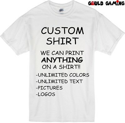 Custom Personalized T-Shirt Printing with your photo, text, logo, anything New