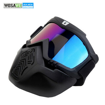 Snowboard Goggles Dustproof Wind Protection Big Ski Glasses with Face Mask