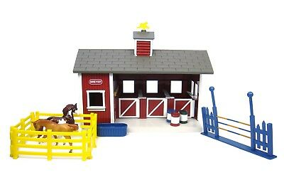 Horse Toys For Girls Boys Breyer Playset Stablemates Red Stable and Accessories