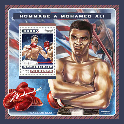 Niger 2016 MNH Muhammad Ali Tribute 1v S/S Boxing Sports Stamps
