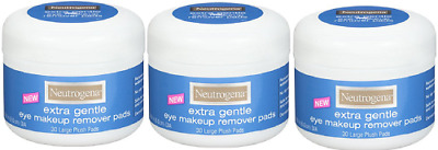 Neutrogena Extra Gentle Eye Makeup Remover Pads, Sensitive Skin 30 Count(3 Pack)
