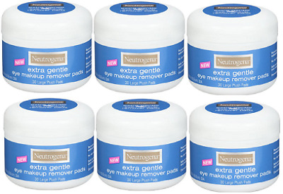 Neutrogena Extra Gentle Eye Makeup Remover Pads, Sensitive Skin 30 Count(6 Pack)