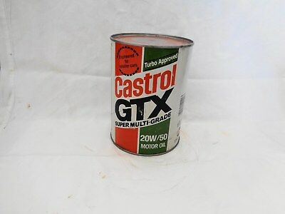 Castrol GTX Super Multi Grade Motor Oil SAE 20W-50 FULL Composite Can Good