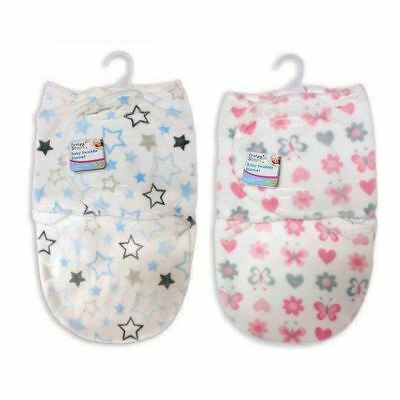 First Steps Baby Fleece Swaddle Blanket Wrap Sleeping Bag 0m+