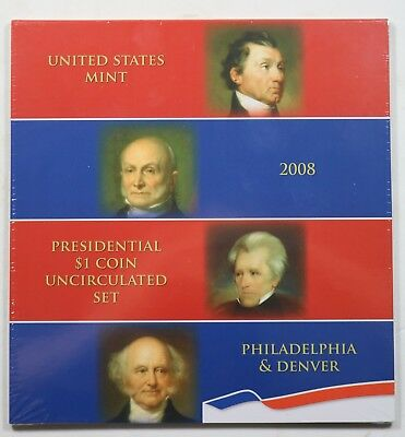 2008 Presidential $1 Coin Uncirculated Set 8 Coins