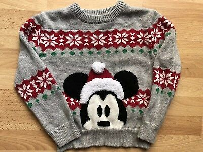 Boy's Disney Store Mickey Mouse Winter Christmas sweater size 2T