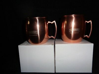 <<Set of 2 >> SMIRNOFF VODKA COPPER MOSCOW  MULE MUGS