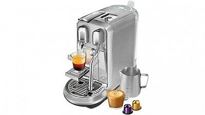 Pay$559!* NEW Nespresso BNE800BSS Breville Creatista Plus SILVER BRUSHED METAL