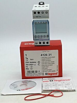 Legrand 4126 31 D21 16A Programmable Time Switch Digital Multifunction 56 Output