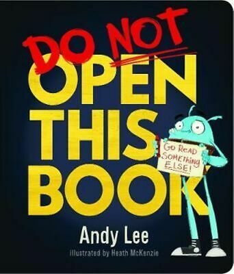 NEW Do Not Open This Board Book By Andy Lee Board Book Free Shipping