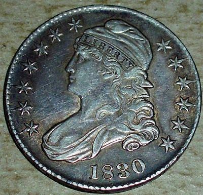 1830 Silver Capped Bust Half Dollar