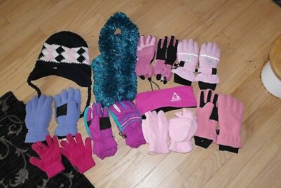 Girl's + Women Winter Hats, Winter Gloves, Waterproof Gloves, Scarves HUGE Lot