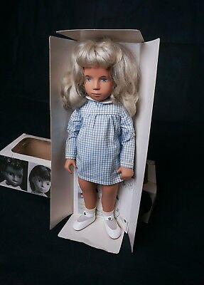 "$279 SALE  Vintage 16"" Sasha #107 Doll Blonde Gingham & Box Made in England 1976"