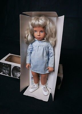 "Vintage 16"" Sasha #107 Doll Blonde Gingham with Box Made in England 1976"