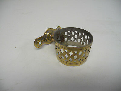 Antique Brass Cup Holder Hook Sink Bathroom Fixture Victorian Vintage