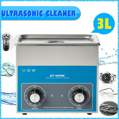 3L Stainless Steel Liter Ultrasonic Cleaner Heater Industry Heated w/Timer Clean