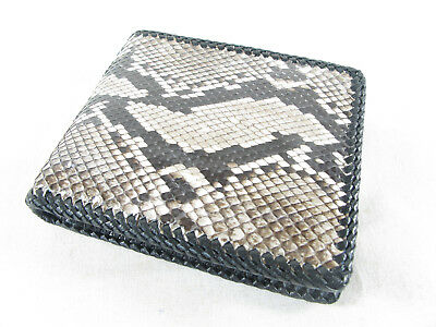 Genuine Python Snake Skin Leather Mens Bifold Wallet Natural + FREE SHIPPING
