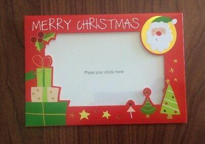 5 x Photo Christmas Cards with Envelopes -  18cm x 12.5cm Red - Add Your Photo