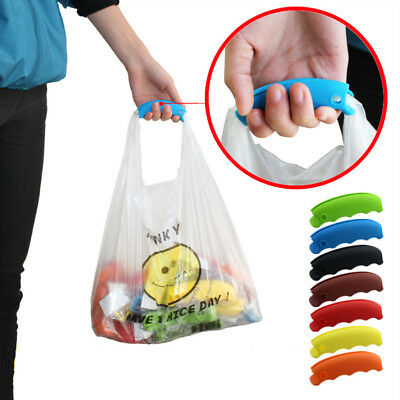 2 x Hook Clip Large Shopping Bag Strong Carry