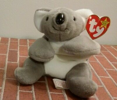 MEL the KOALA BEAR ty Original Beanie Baby style 4162 tag errors DOB: 1 -15 - 96