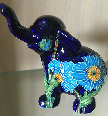 Genuine Old Tupton Ware  - Blue Elephant Series 2 - Hand Painted - 3 Left