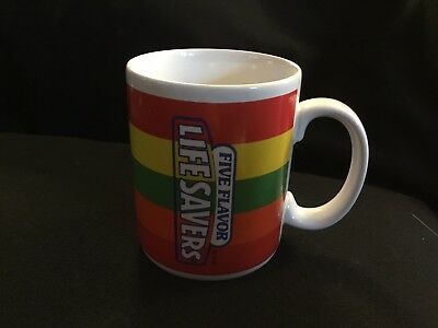 Collectible Coffee Mug-- LIFE SAVERS Five Flavors Excellent condition.
