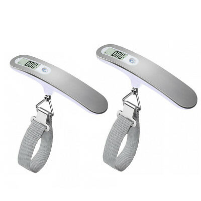 2x Digital Travel Scale for Suitcase luggage Weight 110lb 50KG Capacity