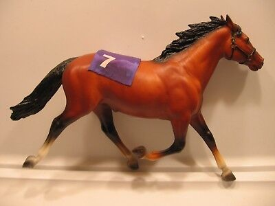 Breyer Traditional Horse PACER RACE HORSE VINTAGE RETIRED BLUE #7 SULKY ATTACHED