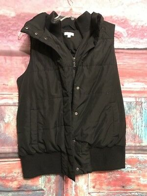 Maternity Padded Snap Puff Winter Vest - A Pea In The Pod Black Size Medium AG